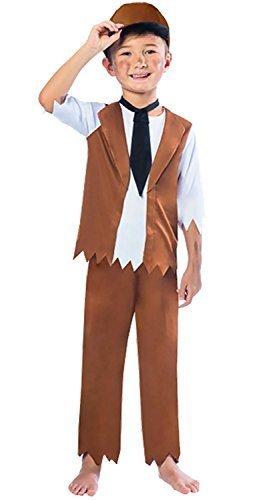 (Fancy Me Jungen Arme Viktorianisch Bauer Oliver Twist gassenkind Welttag des Buches Historisch Kostüm Kleid Outfit 3-10 Jahre - 9-10 years)