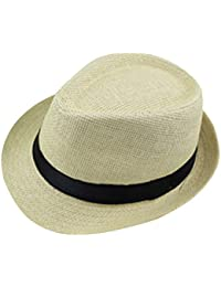 Leisial Women Lady Sun Hat Wide Brim Solid Color Elegant Straw Beach Cap Soft and Breathable Anti-UV Foldable and Packable
