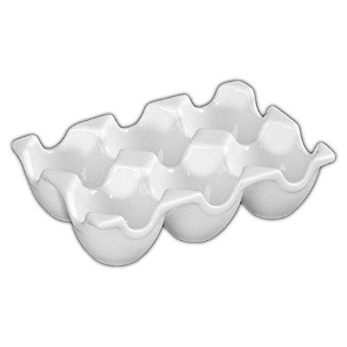 """Holst Porzellan EB 006 Eierträger/Eierkarton """"Snack Line"""", weiß, 15 x 10 x 4 cm, 6 Einheiten"""