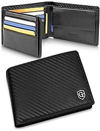 GenTo® Manhattan Herren Geldbörse mit Münzfach - TÜV geprüfter RFID, NFC Schutz - geräumiges Portemonnaie - Geldbeutel für Männer - Portmonaise inkl. Geschenkbox | Design Germany