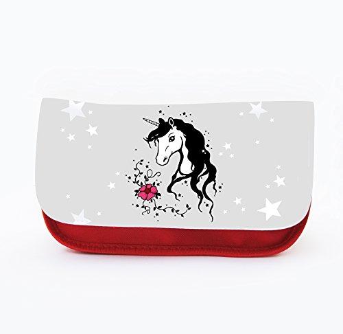 Piuma Custodia Astuccio cosmetici, con unicorno cavallo unicorni Unicorn F032