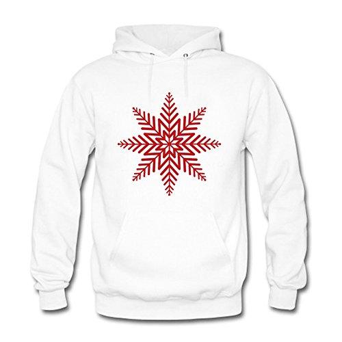 LizzieYun Men Women Unisex Sweatshirt Hoodie Love Christmas Snowflake Printed Top Pullover Outwear L