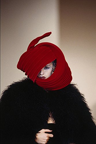 725042 Philip Treacy Red Velvet And Lace Hat A4 Photo Poster Print 10x8 Lace Velvet Hat