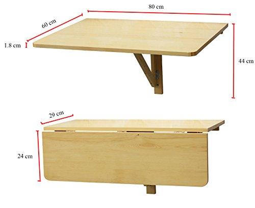 Orolay tavolo pieghevole a muro scrivanie tavolo per computer tavolo da cucina 8 ebay - Tavolo da muro pieghevole ...