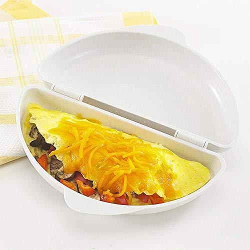 41BXxFVXIgL. SS500  - Microwave Egg Cooker/Poacher Omelet Maker/Steamer Pan Home Kitchen Mold Tool (White)