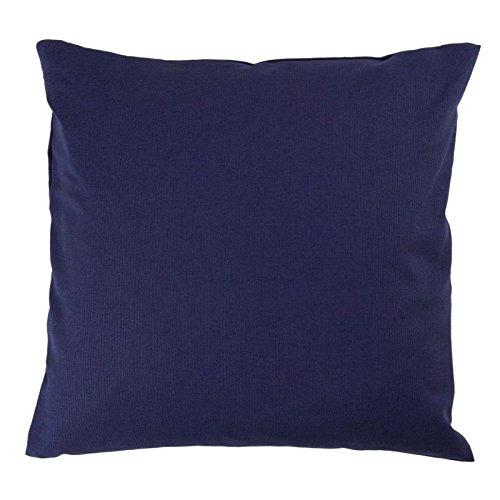 Kissenbezug 40x40 cm, Uni Marine Blau, Baumwolle Canvas, Reißverschluss, hochwertig, robust, strapazierfähig, langlebig