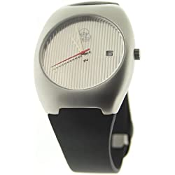 denisonboston Skimm 02 Stripe Mens Date function Rubber Strap Watch