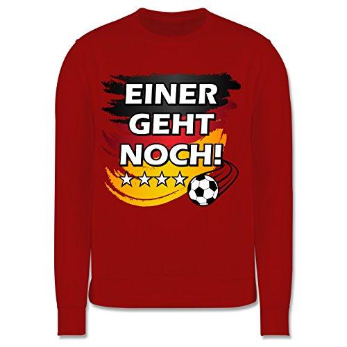 Shirtracer Fußball-Europameisterschaft 2020 Kinder - Deutschland WM Weltmeister Einer Geht Noch - 7-8 Jahre (128) - Rot - JH030K - Kinder Pullover