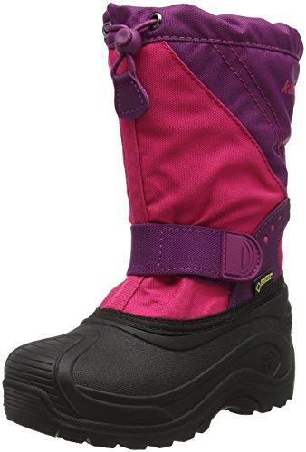 Kamik Unisex-Kinder Snowtraxg Schneestiefel, Pink (RPM-Rose&Plum), 27 EU
