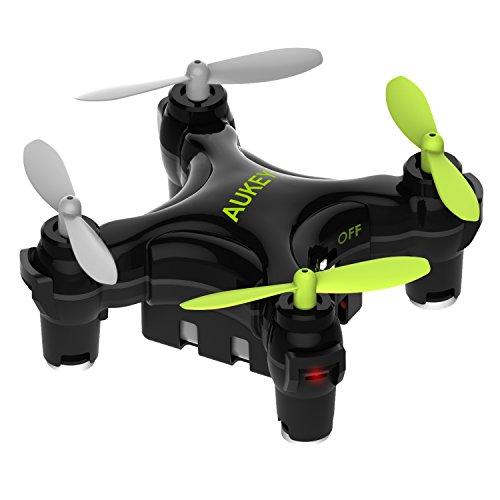 AUKEY UA-P01W Drone Mini con App per Wi-Fi Controllo, Un-Tasto per Atterraggio & Decollo, Drone con G-Sensore, Librazione Intelligente ad Altezza-Fissa, 3 Opzioni di Velocità, Nero