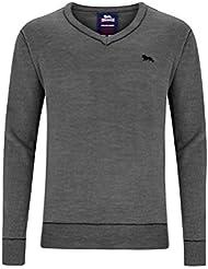 Lonsdale Men V-Neck Knit-Sweater SKEGNESS - Black