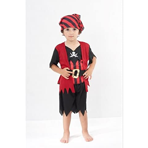 Pirate - Disfraz de pirata para niño, talla 2 - 3 años (CC019)