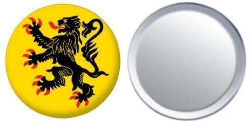 Miroir insigne de bouton France Nord Pas de Calais drapeau - 58mm