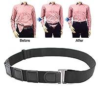 Men's and Women's Belt, Lesgos Shirt Lock Belt Near Shirt Stay Tuck It Belt No Slip Keeps Near Shirt Stays Tucked in Undergarment Belt for Formal and Professional Attire