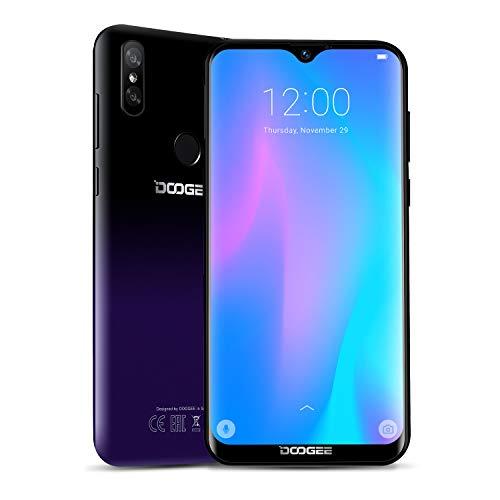 DOOGEE Y8 2019 4G Smartphone Economici Offerta del Giorno,3 GB+32 GB Android 9.0 Cellulare Offerte Dual SIM, 19:9 6,1'' Waterdrop, 3400 mAh Telecamera Doppia 8MP+5MP, Fingerprint Face ID, Viola