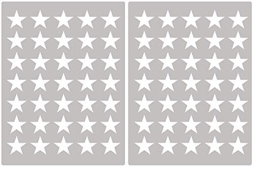 Carta Da Parati Su Muro Ruvido.Premyo Set 70 Stelle Sticker Da Muro Adesivi Murali Bambini Decorazioni A Parete Cameretta Facile Da Applicare Adatta Carta Da Parati Ruvida Bianco