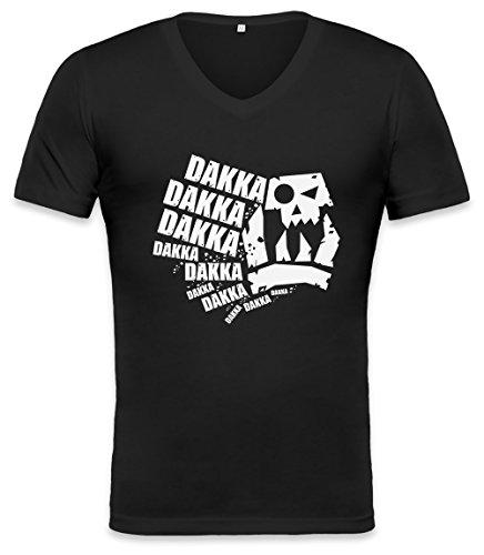 Herren Asu Bekleidung (Dakka Dakka Dakka Unisex V-neck T-shirt XX-Large)