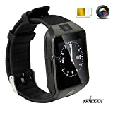 '1.56 TFT LCD Touch Screen Smart Reloj Smart Watch Smartphone con Android Sistema Bluetooth Fitness Dormir Monitor Audio Play Facebook dz09 Negro