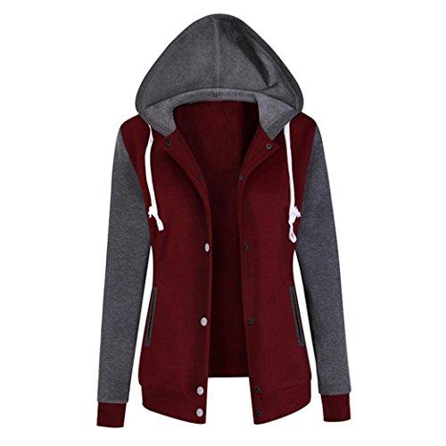 Cappotto donna elegante, feixiang ® cardigan autunno giacca invernale maglione cappotto donna felpa con cappuccio a maniche lunghe felpa stampa casual top camicetta felpe ragazza