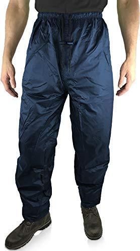 HOCK Unisex Regenhose Fahrrad 'Comfort Klima' mit verstärktem Gesäß - Radsport Regenbekleidung 100% Wasserdicht für Herren und Damen Regenschutz (M, Blau)