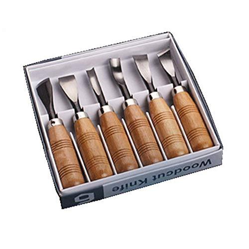 Holz Schnitzwerkzeug Set - 6 Stück Schnitzmesser