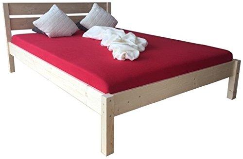 LIEGEWERK Massivholzbett Bett mit hohem Kopfteil Holzbett 90 100 120 140 160 180 200 x 200cm hergestellt in BRD (160cm x 200 cm)
