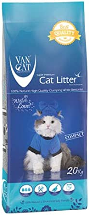 Van Cat 20 kg Compact White Bentonite Clumping Cat Litter
