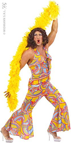 xL Mens 70s Funky Chick Costume Extra Large for 1970's Disco Hippy Hippie Fancy (Chick Fancy Dress Hippy)