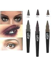 Kit Miss cop - Kajal & Fard à paupières Eyeshadow n°05 Fougere (gris clair) + n°03 Prune + n°07 Noisette (3 produits)