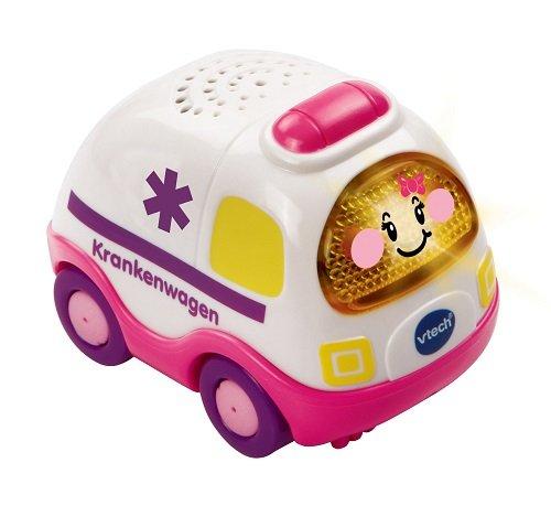 Vtech 80-119754 - TUT TUT Baby Flitzer - Krankenwagen, pink (Auto Klingt Polizei)