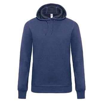 B&C Denim Universe - Sweatshirt à capuche - Homme (S) (Bleu foncé)