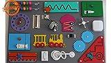 Montessori Busyboard Sinneswand 'Junger Forscher' 60 x 40 cm