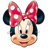 Minnie Ratón Minnie Mouse 6x Máscara de Cartón para cumpleaños Fiestas Party Carnaval infantil