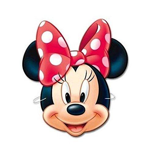 Einladungen Kostüm Minnie - 6 Party-Masken * MINNIE MOUSE * für Kindergeburtstag oder Motto-Party // Mask Verkleidung Kostüm Kinder Geburtstag Mouse