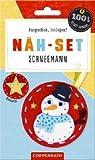 Näh-Set: Filzanhänger Schneemann (100% selbst gemacht)
