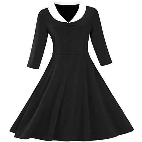 Partiss - Robe - Plissée - Femme Noir