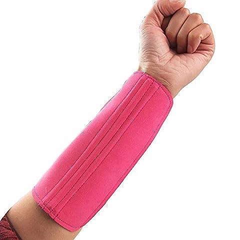 Protection de Bras Protège Avant-bras à 3 Sangle pour Chasse Tir à L'Arc - Rose Rouge