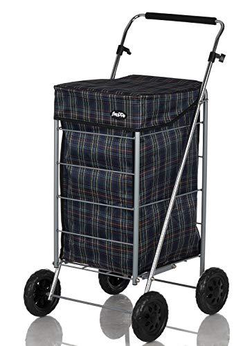 Shoppa Einkaufstrolley mit 4 Rädern, Einkaufstrolley, Einkaufstrolley Tartan A