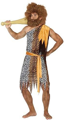 Fancy Me Herren Prehistoric Caveman Cave Man Dinosaurier Party Karneval Kostüm Outfit M-XL, M/L, braun