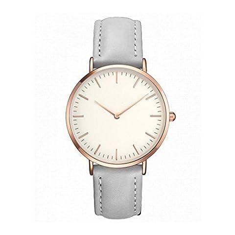 Uhren, ihee Frauen Herren Fashion Design Casual einfache Edelstahl Quarz analoge Uhr Band Handgelenk Uhren (Grau)