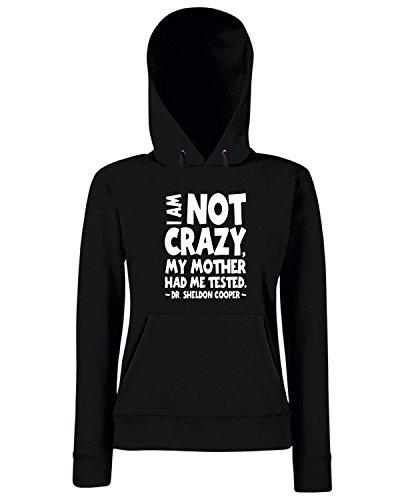 T-Shirtshock - Sweats a capuche Femme OLDENG00600 not crazy Noir