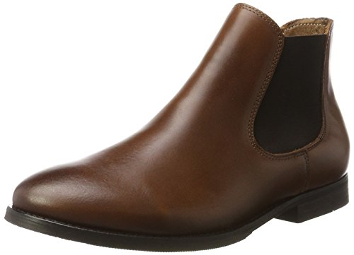 SELECTED FEMME Sfbeathe Leather Boot, Bottes Chelsea Femme, Marron