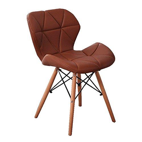 LXFMD Nordic Stuhl Bürostuhl Bürostuhl Massivholz Esstisch und Stühle Haushocker (Farbe : Braun) -