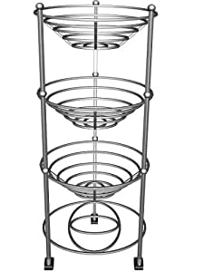 axis verchromte 3 st ckige stahl etag re f r obst gem se. Black Bedroom Furniture Sets. Home Design Ideas