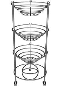axis verchromte 3 st ckige stahl etag re f r obst gem se fertig montiert 25 x 33 x 71 5 cm. Black Bedroom Furniture Sets. Home Design Ideas