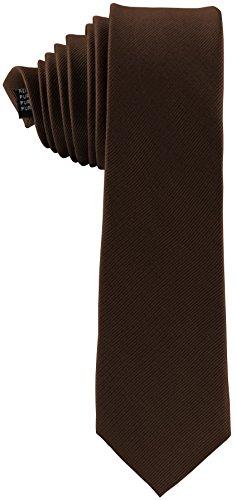 ADAMANT Corbata seda Hombre, diferentes colores - Corbata fina original (Marron)