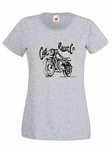 Settantallora - T-shirt Maglietta donna J2030 Cafe Racer Co. Grigio