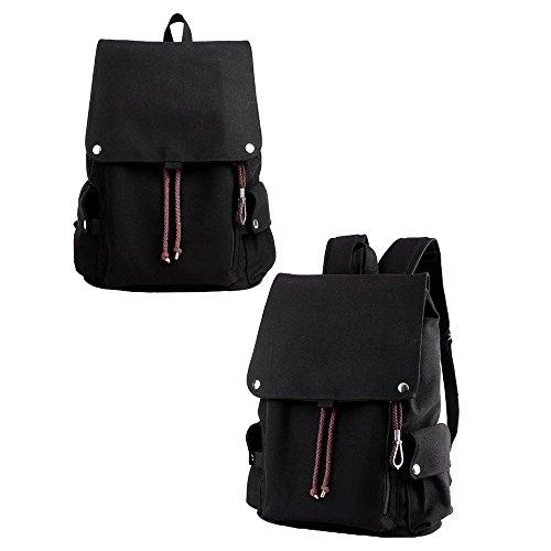 Asdomo uomini ragazzi leggero zaino di viaggio zaino viaggio borsa a tracolla zaino impermeabile per escursionismo, lavoro, per la scuola, Dark khaki Black