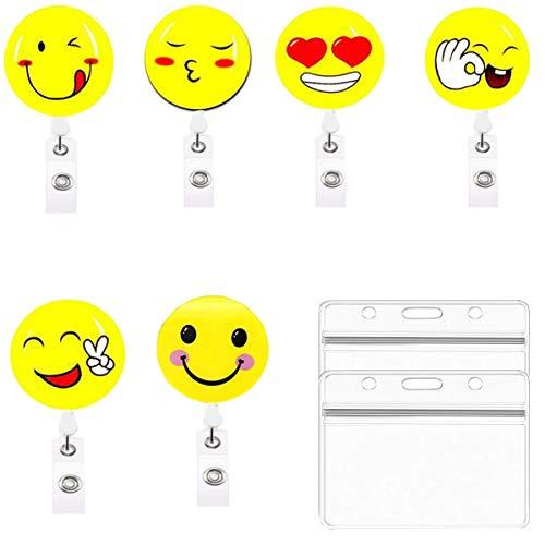 6PCS Ausweishülle,Liuer Schlüssel JoJo Ausweis JoJo Schlüsselanhänger Schön Muster für ID Badge Holder Kartenhalter Schlüsselband Kartenhüllen Ausweishalter Schlüsselkarten zur Befestigung