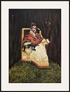 Portrait Pape Innocent XII Affiche encadrée de Francis Bacon 27 x 35 cm